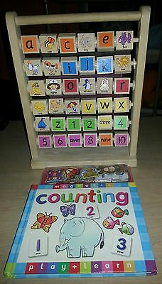 Numbers and letters wooden toy and magnetic book