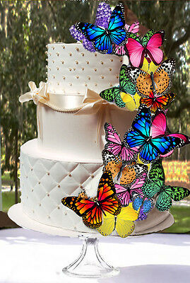 20 Edible Butterfly Wafer Cake Decorations,cupcake toppers,cookie toppers