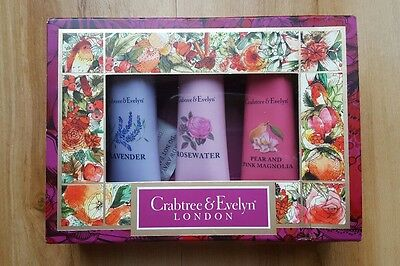 Crabtree and Evelyn Ultra Moisturising Hand Cream Therapy. Trio Gift Set