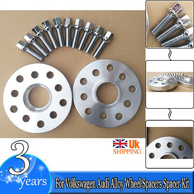 For Volkswagen Audi Alloy Wheel Spacers Spacer Kit5 x 100/112 57.1 20mm+OE Bolts