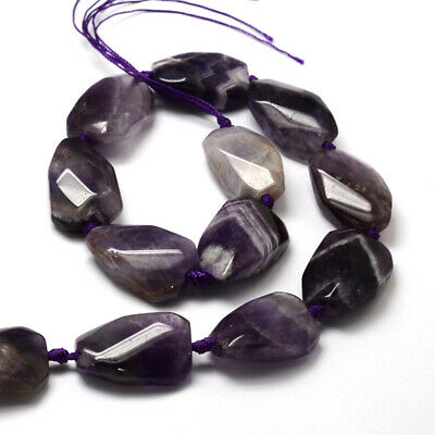 "1X Natural Amethyst Beads Strands Nuggets about 11pcs/strand 16.3"" DIY Crafting"