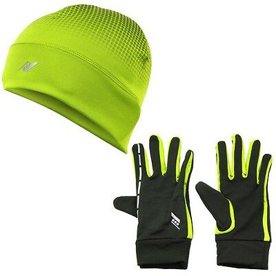 Unisex Rucanor Yellow/black Running Sports Set Gloves And Cap Hat