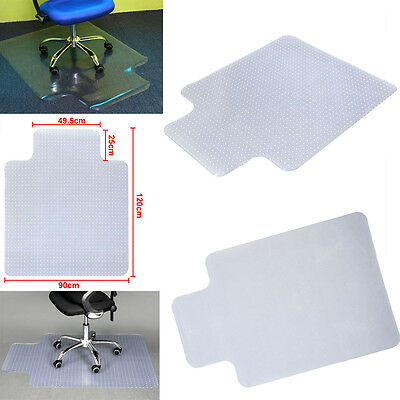 PVC 900X1200 Home Office Chair Mat Non Slip Clear Frosted Carpet Protector