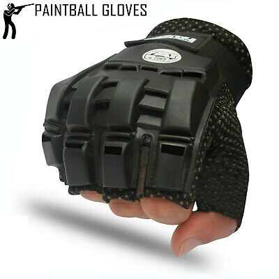 Paintball Hunting Airsoft Tactical Motocross Cycling Armour Half Finger Gloves