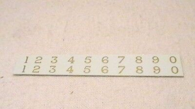Triang Hornby Lima Ect Lms Large Numbers X2 Transfers Decal Metallic Gold