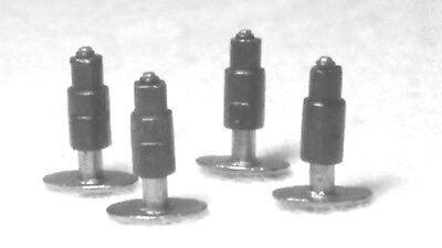 Hornby X9237 Oval Sprung Sring Buffers 4 Pack Oo Gauge For Class 60 Ect Spares .