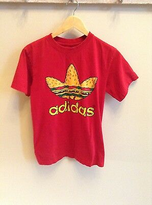Vintage Adidas - hamburger shirt - MEDIUM