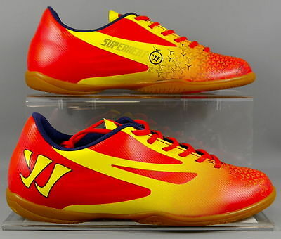 BRAND NEW Warrior Red & Yellow Indoor Rubber Sole Astro Trainers - SMIGCIRD!