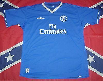 Chelsea London 2003 2005 Double Sided Home Football Shirt Jersey Umbro Xl