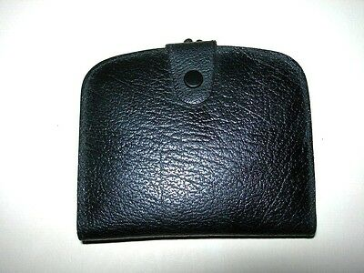 Vintage 1950s,60s Black Real Leather Coin,Change Purse Wallet,made in England