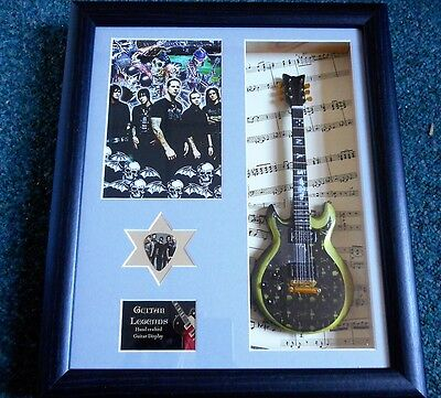 Avenged Sevenfold Framed Guitar & Plectrum Presentation