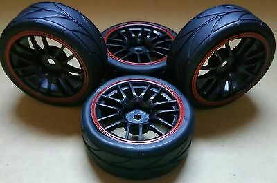 1/10 RC Car on road/touring Wheels & Tyres x4