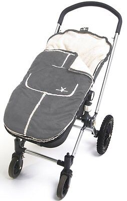 Wallaboo Footmuff pushchair/pram liner with soft fleece/suede - 6-36mths - Grey
