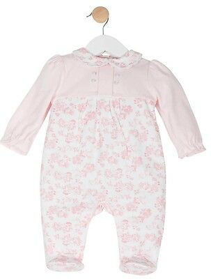 Baby Girls Spanish Style Pink Floral Romper All in One Newborn 0-3 & 3-6 Month