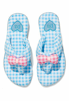 Ladies Peter Alexander Gingham Velour Thong slippers  Size M, L & XL