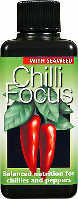 CHILLI FOCUS (100 ml) LIQUID NUTRIENT FEED FOR CHILLIES AND PEPPERS