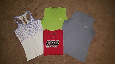 Under Armour Lot - 1 S/s Shirt 3 Tank Tops Size Woman's Small