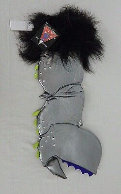New Lady Gaga Workshop Barneys New York Monster Claw Christmas Stocking Silver