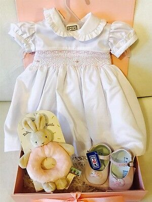 Beautiful PEX Ava Dress & Anouk Shoes Gift Box Hamper for Baby Girl 3-6 months