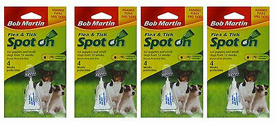 4 pack 1st class POST DOG BOB MARTIN FLEA TREATMENT DOG DOGS-cheaper than frONT