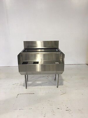 Stainless Steel Bar Back Ice Bin W/ Blender Station With Legs 36""
