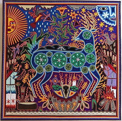 "23.5"" Mexican Huichol Yarn painting 60-051"