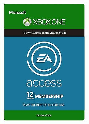 Microsoft Xbox EA Access 12 Month Membership for XBOX ONE FAST Delivery