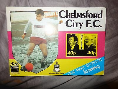 Chelmsford City V  Chelsea 1985-86  Grand Challenge   Football Programme X