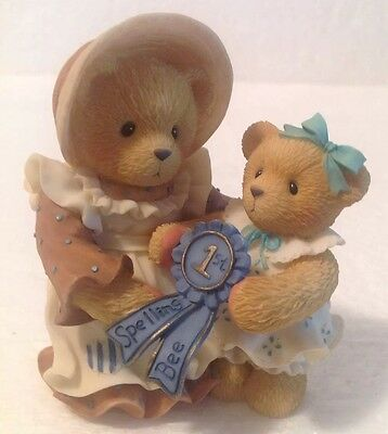 Cherished Teddies SIMONE AND JHODI I've Always Believed In You - Spelling Bee