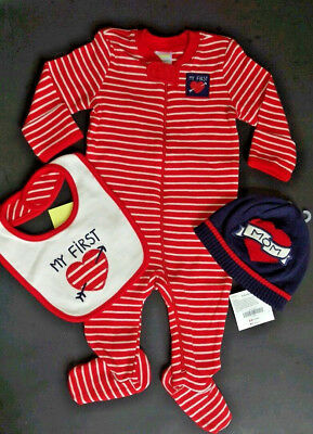 Gymboree NWT I Love Mom  4 Piece Outfit & Blanket set 3-6 months