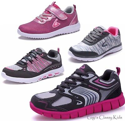 New Girls Tennis Shoes Lace Up Athletic Running Sneakers Toddlers Youth Kids