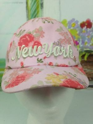 New York City Girls Toddler Ages 1-4 Years Floral Baseball Cap Hat Adjustable