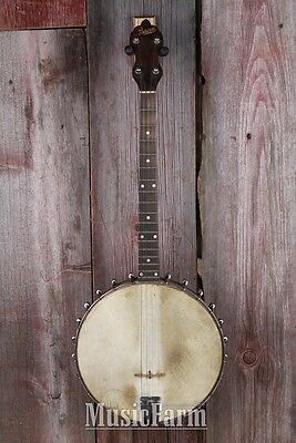 Bacon Tenor Banjo with Chipboard Case Vintage 4 String 1927 Old Time Dixieland