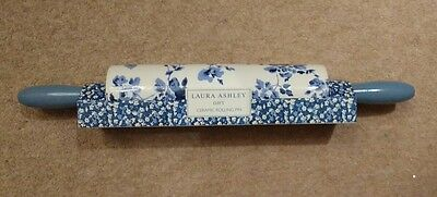 Laura Ashley Ceramic Rolling Pin Rolling Handle Blue Floral Fab Mothers Day Gift