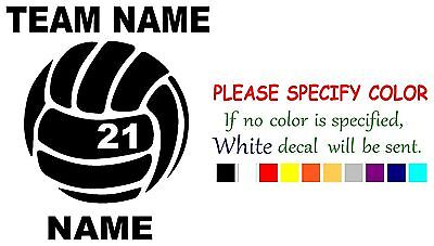 Vinyl Decal Sticker - Personalized Volleyball sports Car Truck Bumper Window 6""