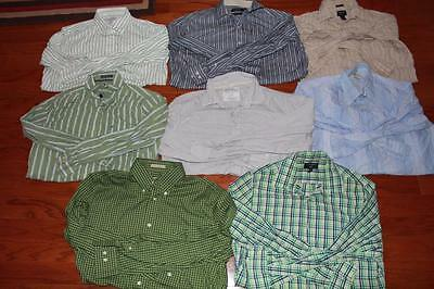 Lot Of 8 Adult Mens Dress Shirts Michael Kors Eddie Bauer American Eagle Large