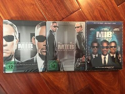Men In Black Blu Ray Steelbooks Collection (3D, lenticular) READ!!!