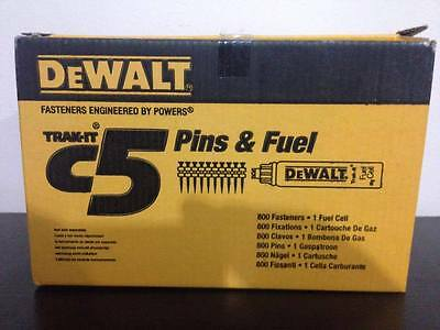 DeWALT DDF6110250 C5 TRAK-IT Gas & Pins - 40mm x 2.6mm Shank 800 Qty