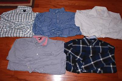 Lot Of 5 Adult Mens Dress Shirts Michael Kors Tommy Hilfiger Banana Republic Xl