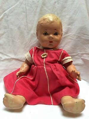 Late 1930's Unmarked Composition Doll Sleepy Eyes