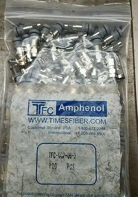 TFC Amphenol TFC-QC2-06U-3 RG6 Cable Connector 98 Count New