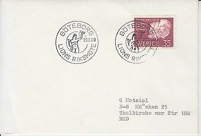 Lions Riksmotte Goteborg 1969 pm on small cover