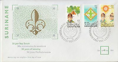 Scouting Pfadfinder Scoutisme 1974 Suriname 50 jaar Boy Scouts FDC
