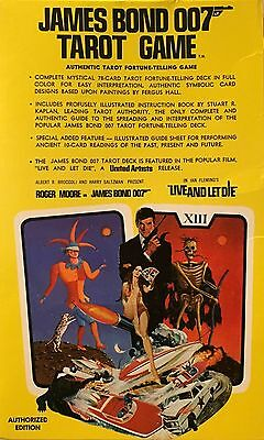 James Bond 007 Live and Let Die Tarot Card Game Set Authorized Ian Fleming RARE