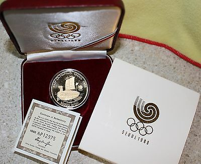 1988 Seoul Olympics Turtle Ship Korean Proof Gold 1986 Coin World Coin 50K Won