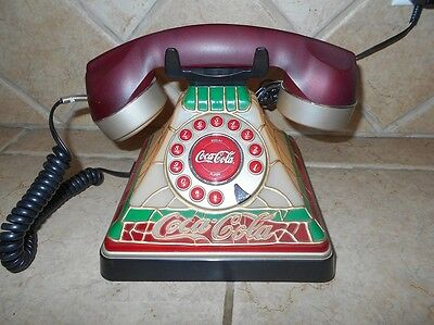 2001 Coca Cola Phone-TIffany Style-Lights up