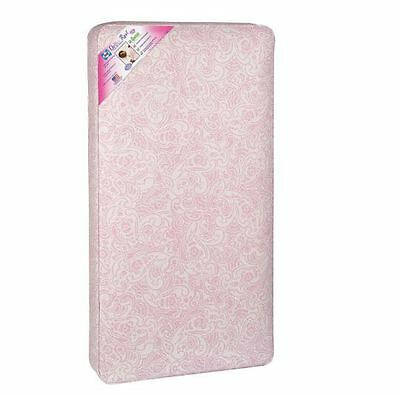 Sealy Baby Toddler Ultra Rest Water- Stain-Proof Standard Crib Bed Mattress Pink