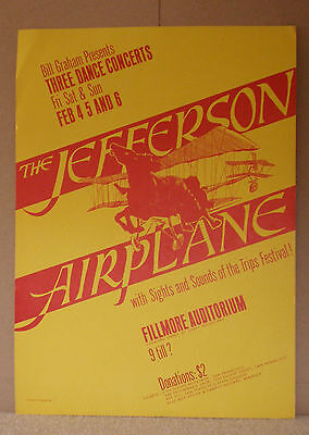 Bg 1-3 Jefferson Airplane Fillmore Family Dog Era Poster