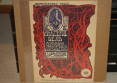 Grateful Dead Anniversary Party Old Cheese Factory Mouse Fillmore Fd Era Poster