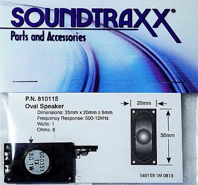 Soundtraxx 35mm x 20mm Oval Speaker 8 ohms ideal for Locos with a more space